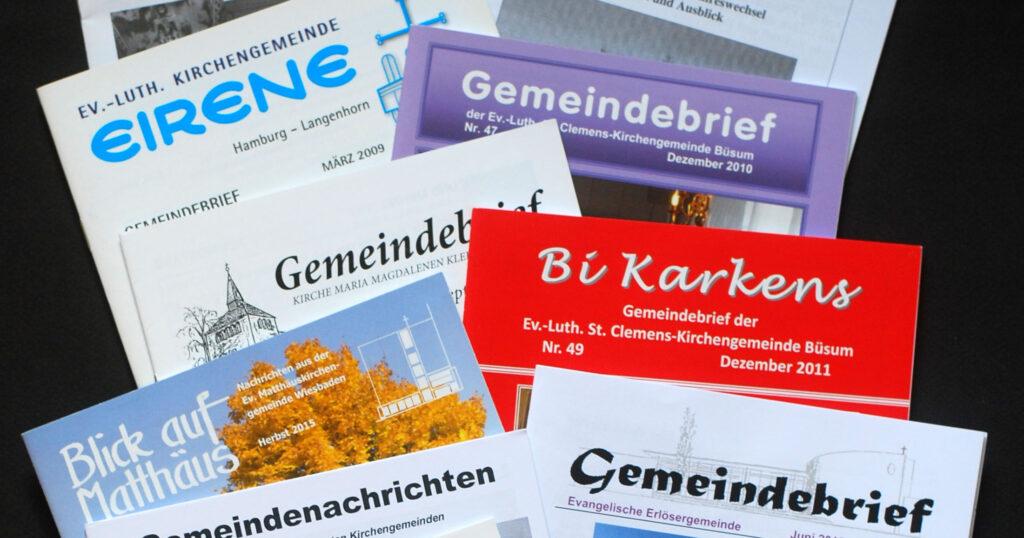 Titelseiten von Gemeindebriefen