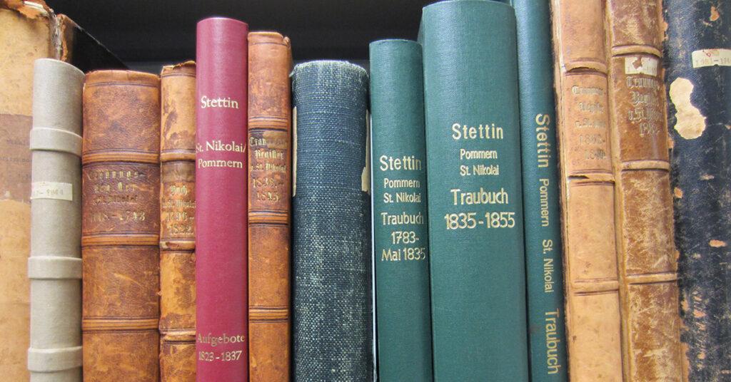 Historische Kirchenbücher aus Stettin