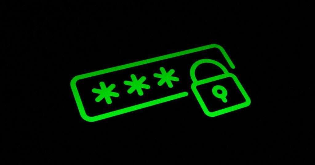 Ein stilisiertes Passwort-Eingabe-Feld