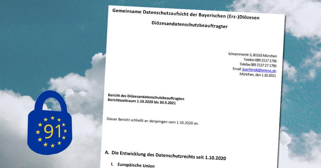 Titelseite des Tätigkeitsberichts des bayerischen Diözesandatenschutzbeauftragten.